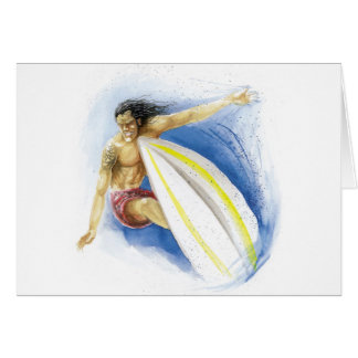 Surfing Summer Waves Card