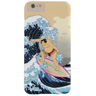 Surfing Sumo Wrestler iPhone case