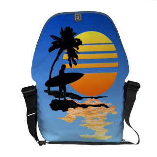 Surfing Sunrise Courier Bags