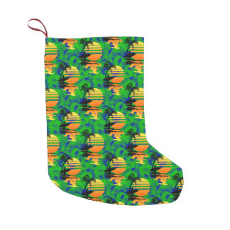 Surfing Sunset Small Christmas Stocking