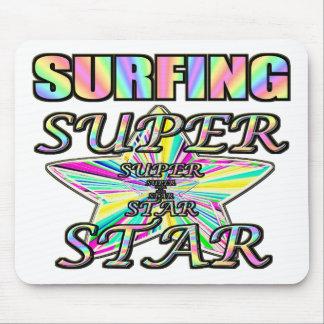 Surfing Superstar Mousepads