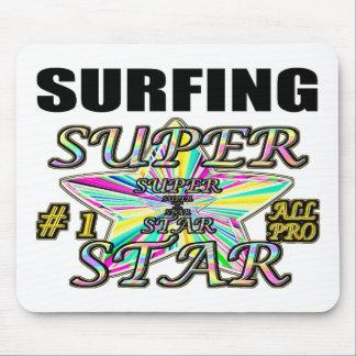 Surfing Superstar Mousepad