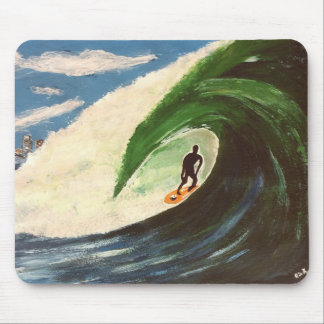 Surfing Surfer The Tube Ride Ocean Wave MousePad