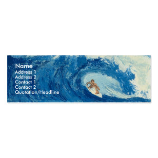 Surfing Surfer Tube Ride Ocean Wave Profile Card Mini Business Card