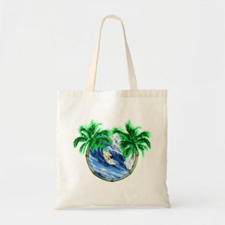 Surfing The Barrel Tote Bag