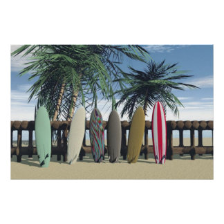 surfing the day away poster