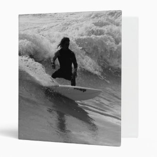Surfing The Waves Grayscale 3 Ring Binder