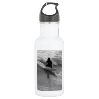 Surfing The Waves Grayscale 532 Ml Water Bottle
