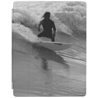 Surfing The Waves Grayscale iPad Cover