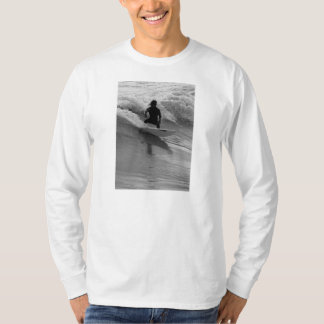 Surfing The Waves Grayscale T-Shirt