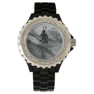 Surfing The Waves Grayscale Watch