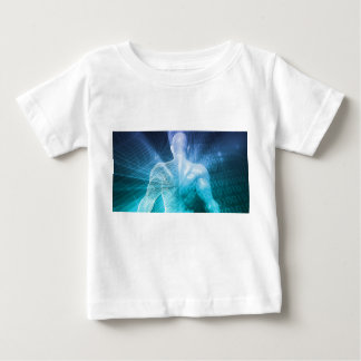 Surfing the Web or Internet as a Digital Concept Baby T-Shirt