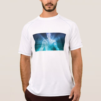 Surfing the Web or Internet as a Digital Concept T-Shirt