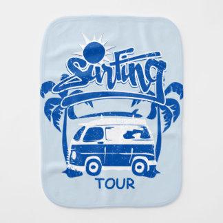 Surfing tour van burp cloth