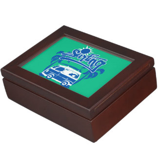 Surfing tour van keepsake box