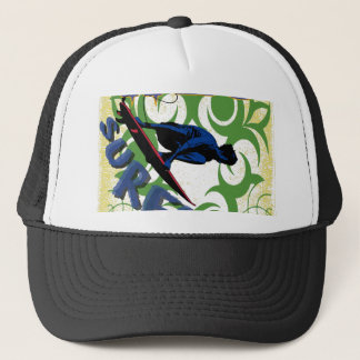 surfing tribal trucker hat