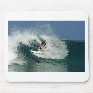 Surfing tropical paradise wave Java Mouse Pad