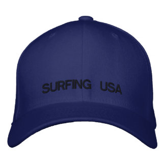 SURFING USA EMBROIDERED HAT
