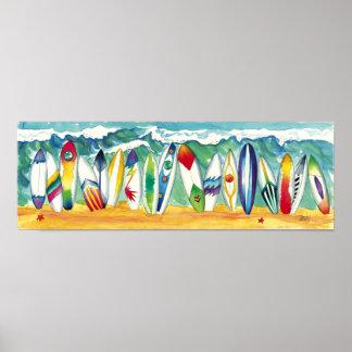 Surfing USA print poster