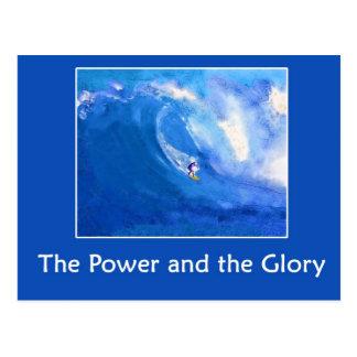 Surfing Watercolor Postcard