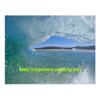 Surfing Wave Student Welcome Custom Postcard