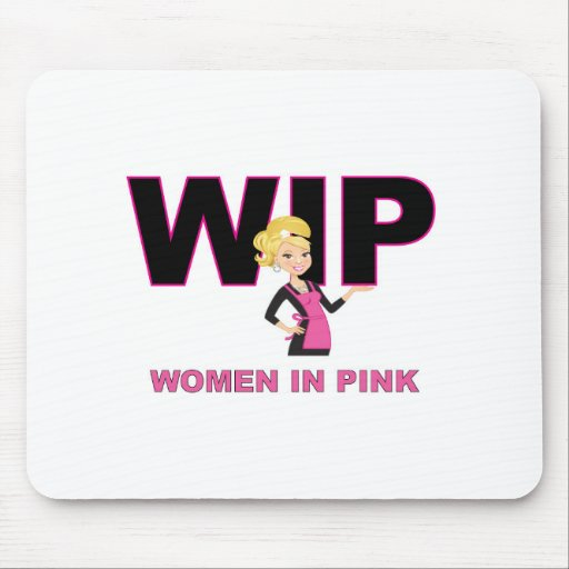 Surfing WIPS! (Women in Pink) Mouse Pad