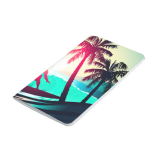Surfing with palm trees journal