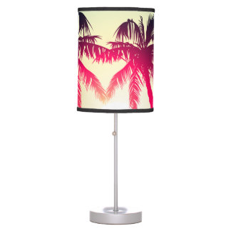 Surfing with palm trees table lamp