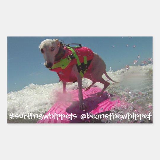#surfingwhippets Beans Sticker