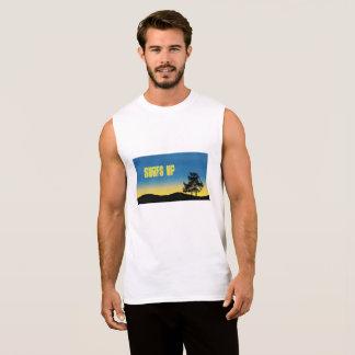 Surfs Up beach men's sleeveless shirt. Sleeveless Shirt