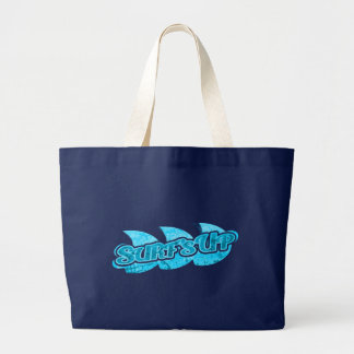 """Surf's Up"" blue surfers tote bag"