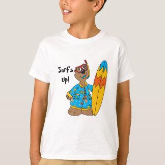 Surf's Up Cartoon Bear T-Shirt