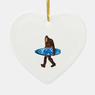 Surfs Up Ceramic Ornament