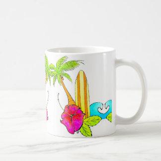 Surfs Up Classic Coffee Mug Tropical Vibes