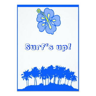 Surf's Up Party invite