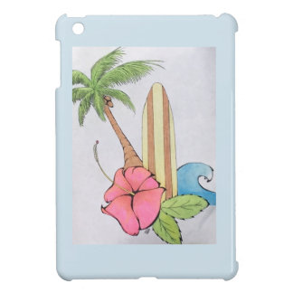 Surfs Up Peaceful blue paradise iPad case