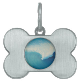 Surfs up. pet ID tag