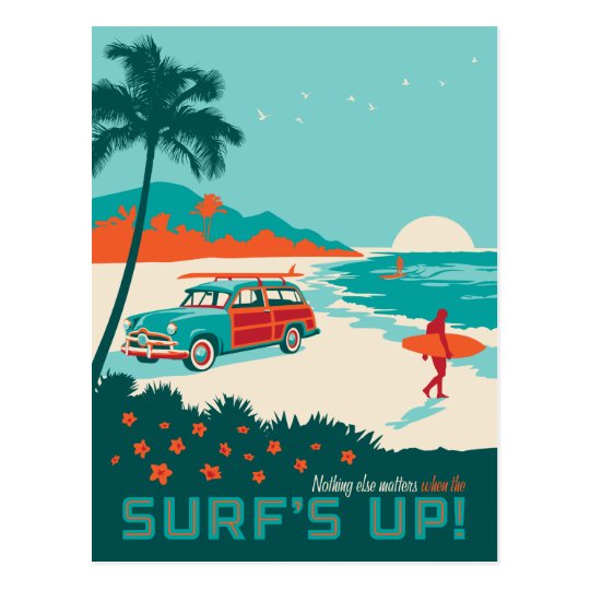 Surf's Up Postcard