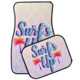 Surf's Up Summer Sunset Palm Trees Car Mat