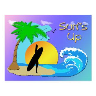 Surfs Up - Surfer Girl Postcard