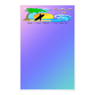 Surfs Up - Surfer Girl Stationery