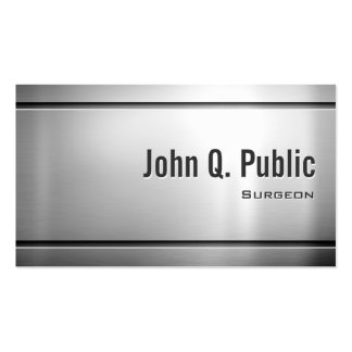 Surgeon - Cool Stainless Steel Metal Pack Of Standard Business Cards