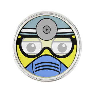 Surgeon Face Lapel Pin