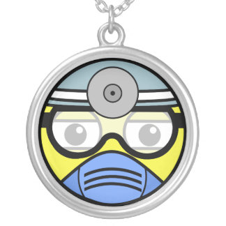 Surgeon Face Silver Plated Necklace