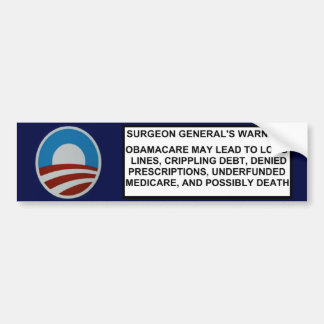 Surgeon General's Warning Bumper Sticker