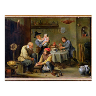 Surgeon Tending the Foot of an Old Man Postcard