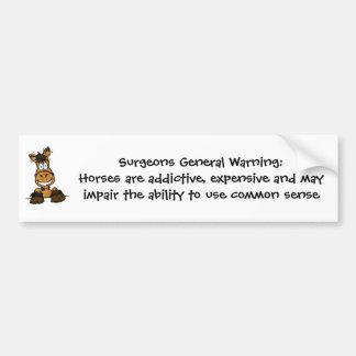 Surgeons General Warning bumper sticker
