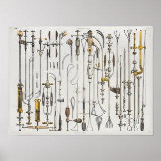 Surgical Medical Instruments Vintage Anatomy Print