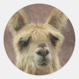 Suri Alpaca Classic Round Sticker