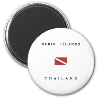 Surin Islands Thailand Scuba Dive Flag Magnet